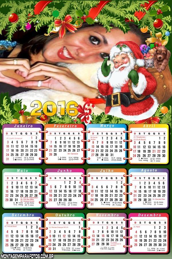 Calendário Papai Noel Saco de Brinquedos 2016