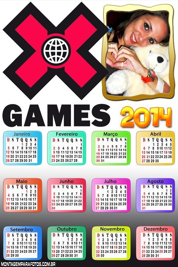 Calendário 2014 Xgame