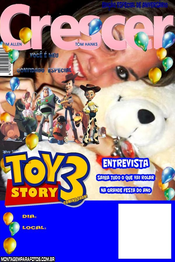 Convite Toy Story 3 Crescer