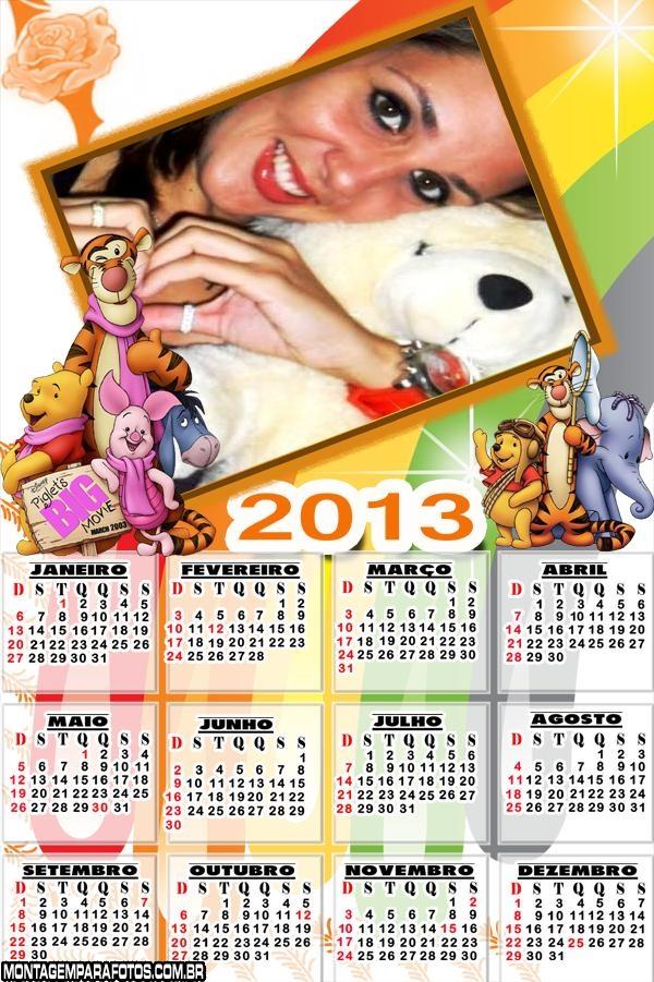 Calendário Filme Pooh 2013