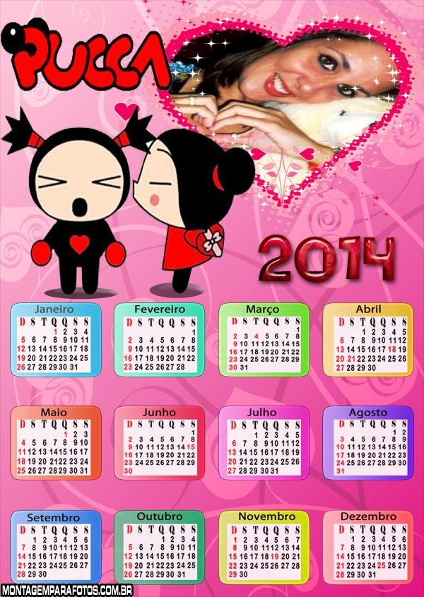 Calendário da Pucca 2014