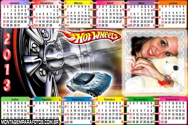 Calendário Hot Wheels 2013