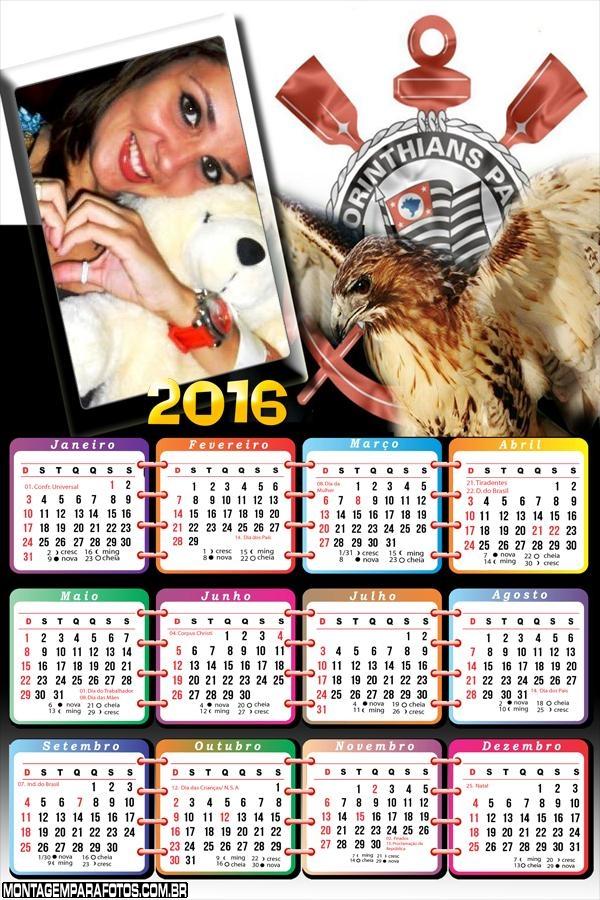Calendário do Corinthians 2016 Gavião