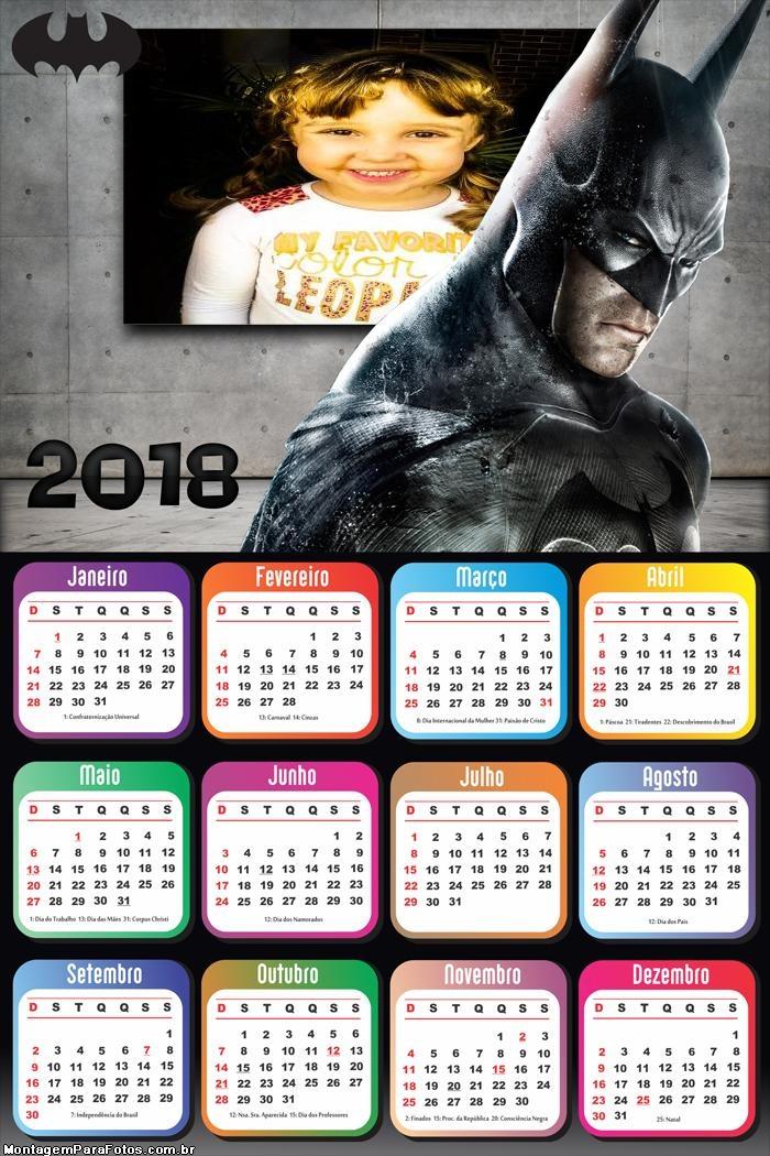 Calendário 2018 Batman Cavaleiro das Trevas