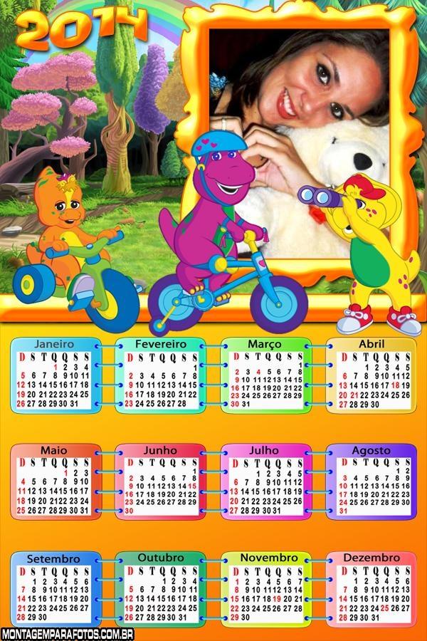 Calendário 2014 do Barney