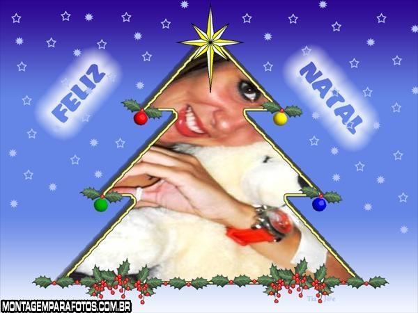 Árvore de Natal Branca e Estrela