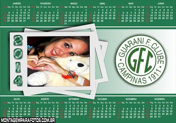 Calendário 2014 Guarani Camp