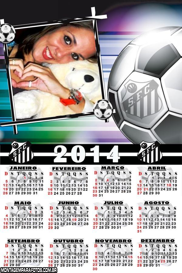 Calendário 2014 do Santos