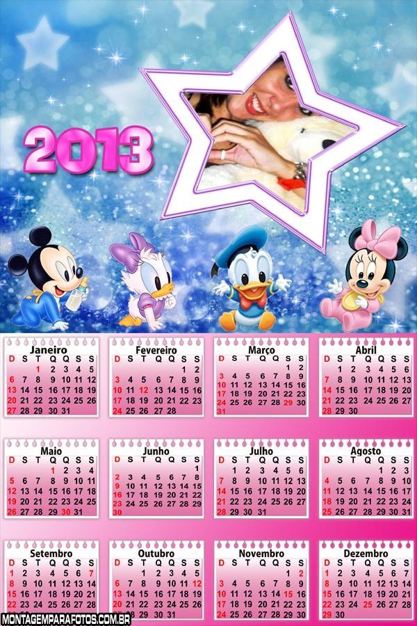 Calendário Disney Baby 2013