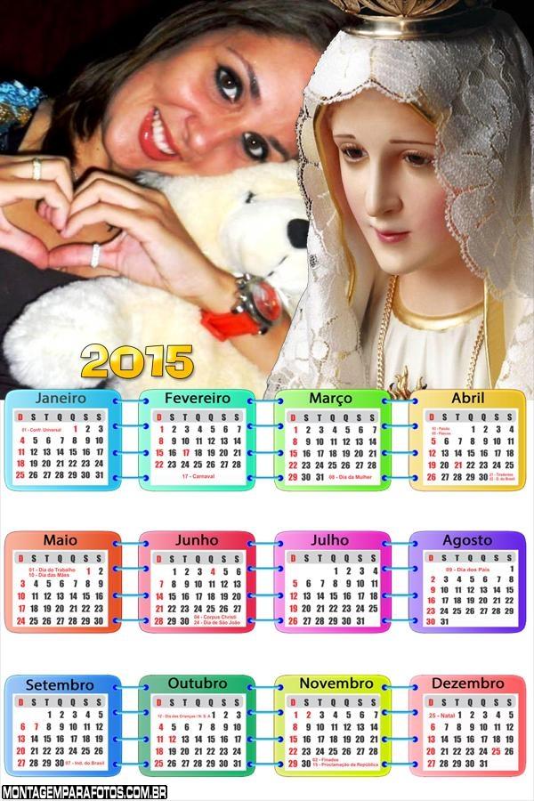 Calendário 2015 Nossa Senhora