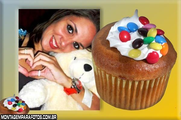 Moldura Cupcake com Confetes