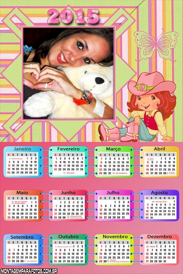 Calendário 2015 Cowgirl Morango