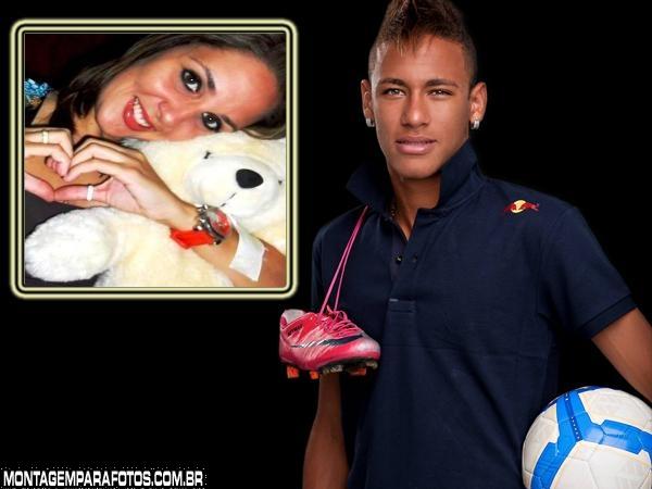 Moldura Neymar Bola e Chuteira