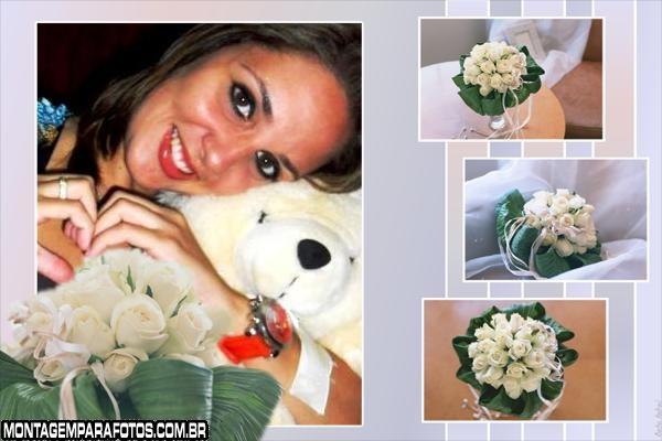 Moldura Buquê de Flores Brancas