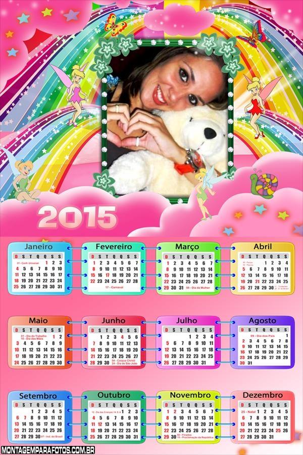 Calendário 2015 da Sininho