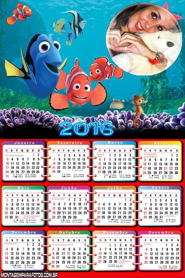 Calendário Peixes 2016