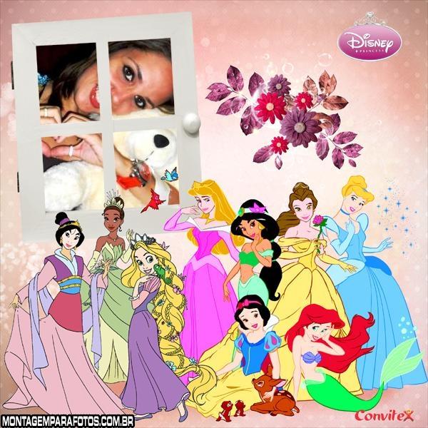 Desenho das Princesas Moldura