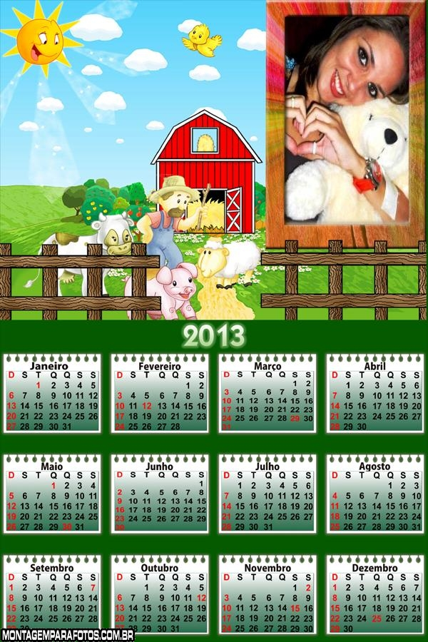 Calendário Fazendeiro 2013
