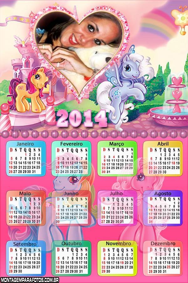 Calendário Ponéis Coloridos