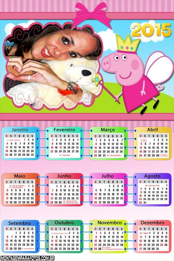 Calendário 2015 Peppa Pig