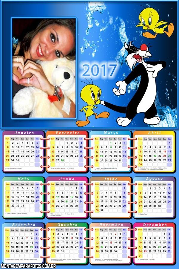 Calendário 2017 Frajola
