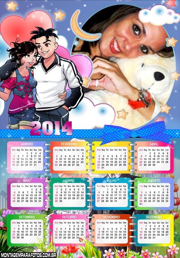 Calendário 2014 Cebolinha Jovem