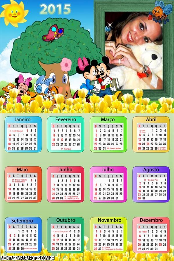Calendário 2015 Turma Mickey