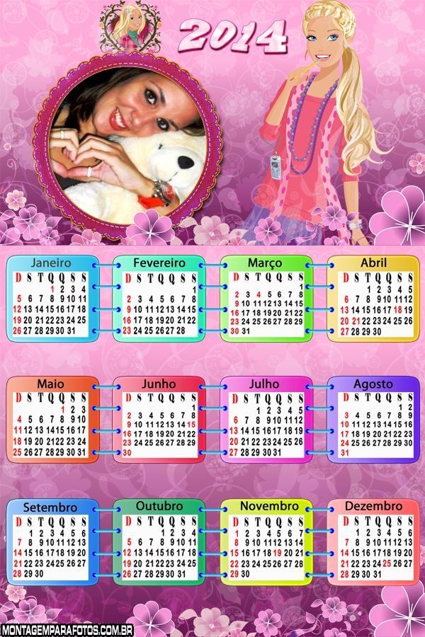 Calendário Barbie Dreamhouse