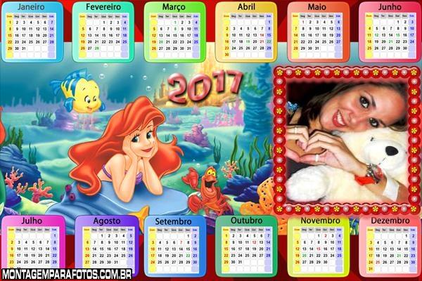 Calendário 2017 Princesa do Mar