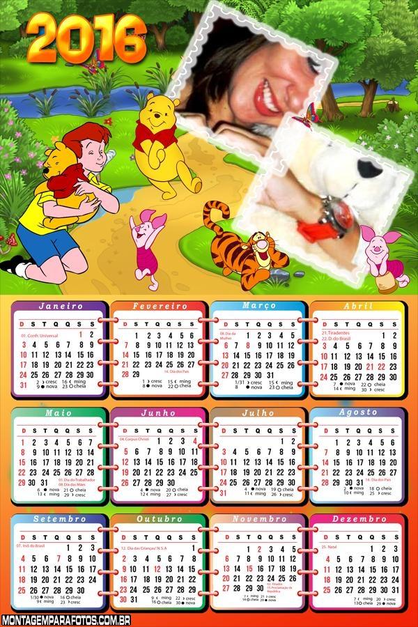 Calendário Online 2016 Infantil