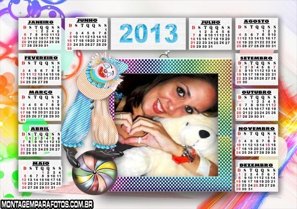 Calendário Palhacinho 2013