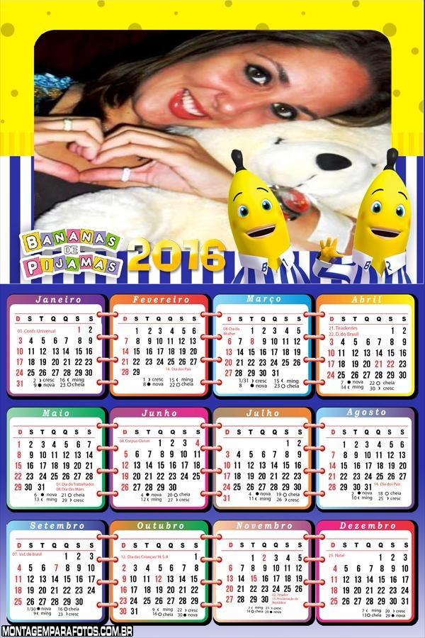 Calendário Bananas de Pijama 2016