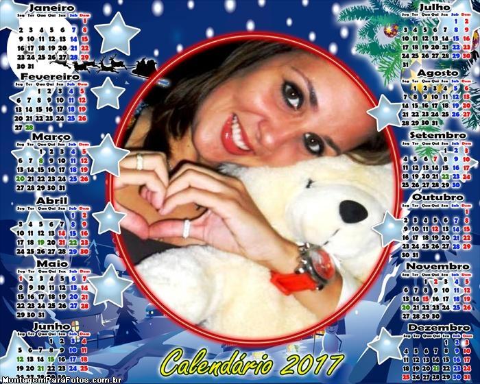 Calendário 2017 Estrelas da Noite de Natal