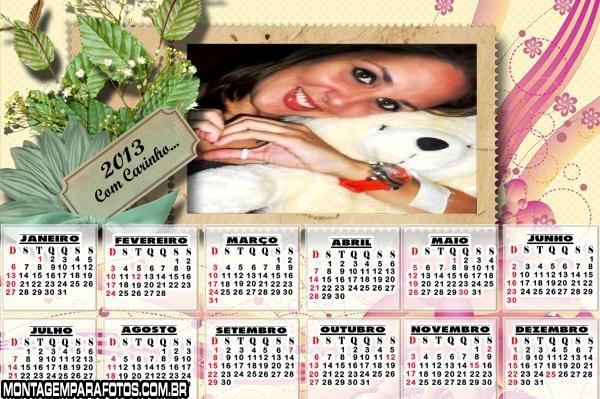 Calendário com Carinho 2013