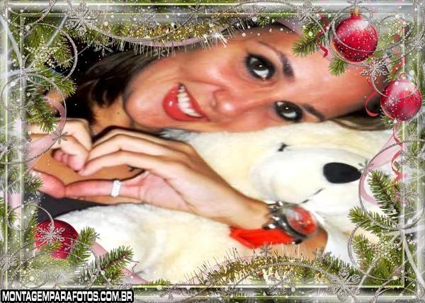 Moldura de Natal Vermelha