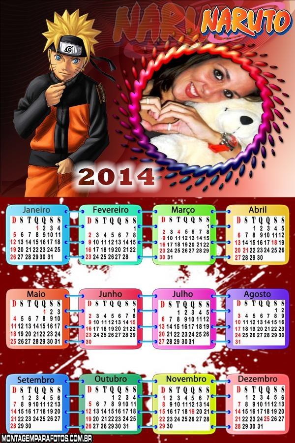Calendário 2014 Naruto Project
