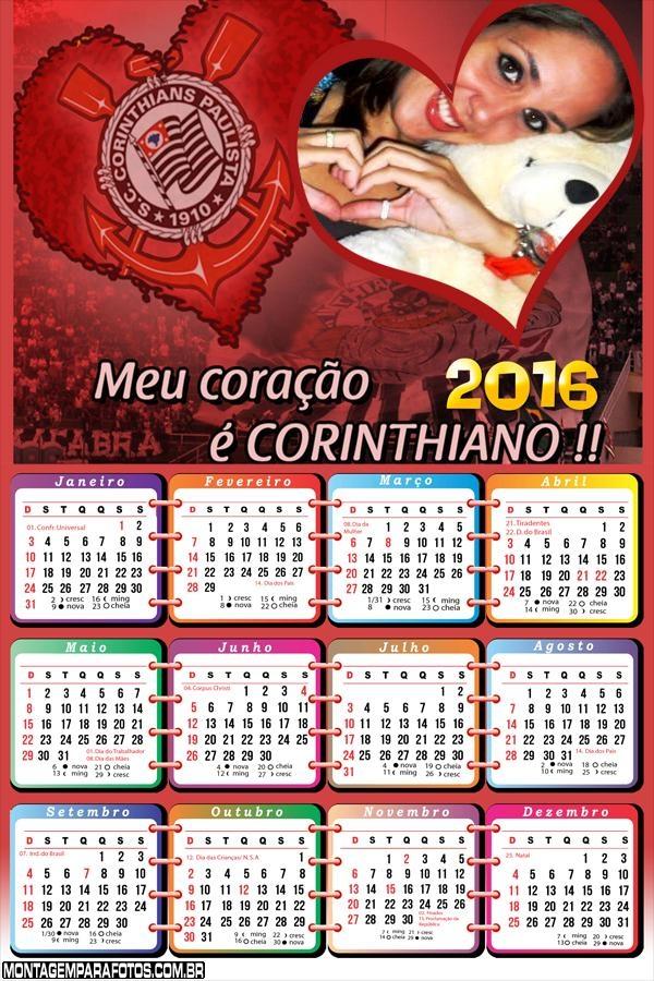 Calendário Corinthians do Meu Coração 2016