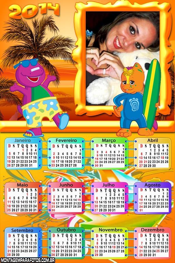 Calendário 2014 Amigos Barney