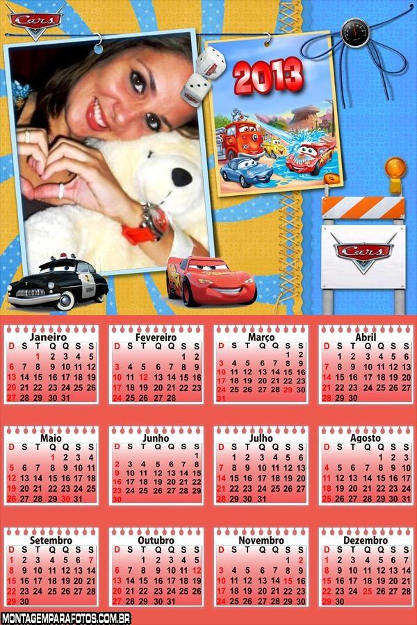 Calendário Desenho Cars 2013