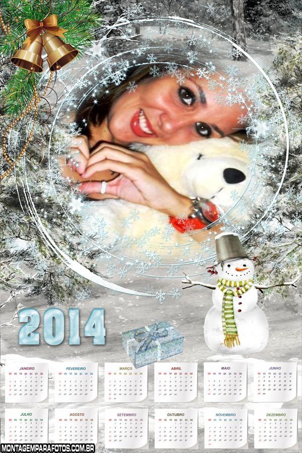 Calendário Boneco Neve 2014