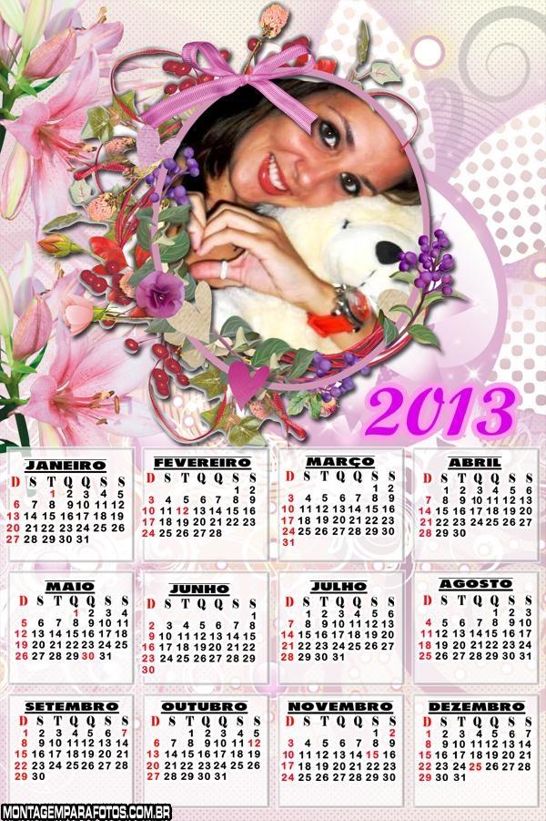 Calendário Arranjo de Flores