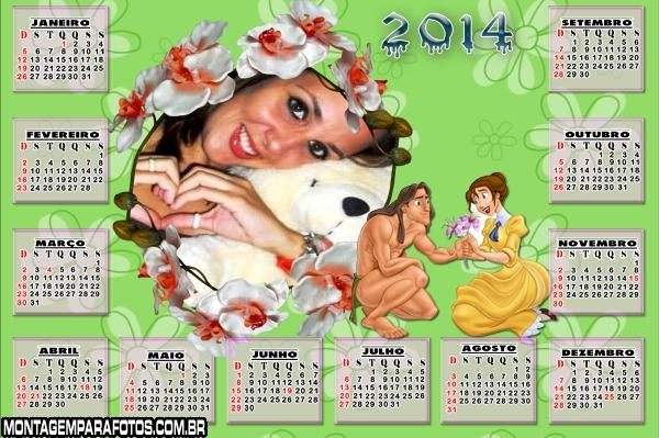 Calendário Tarzan e Jane 2014