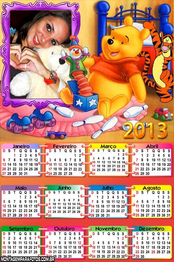 Calendário Ursinho Pooh 2013