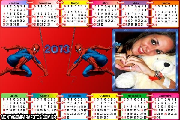 Calendário Homem Aranha 2013