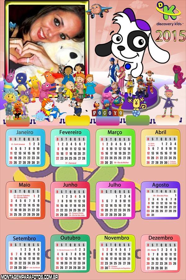 Calendário 2015  Discovery Kids