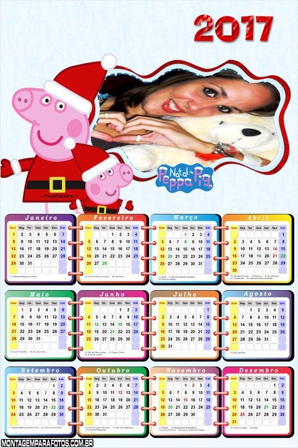 Calendário 2017 Natal com a Peppa Pig