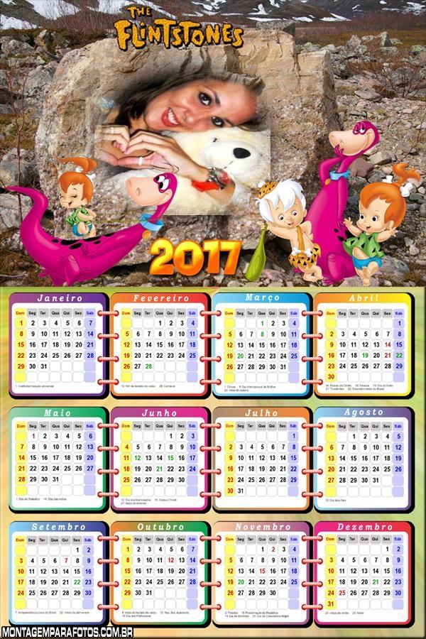 Calendário 2017 Dino dos Flintstones
