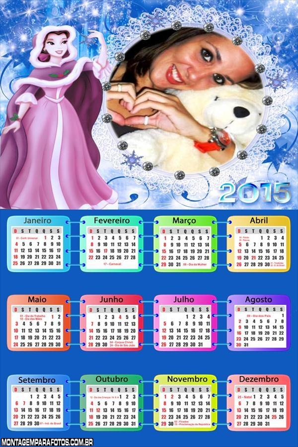 Calendário 2015 Rapunzel