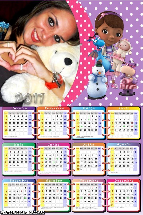 Calendário 2017 Doutora dos Brinquedos