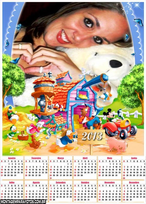 Calendário Disney Fazenda 2013